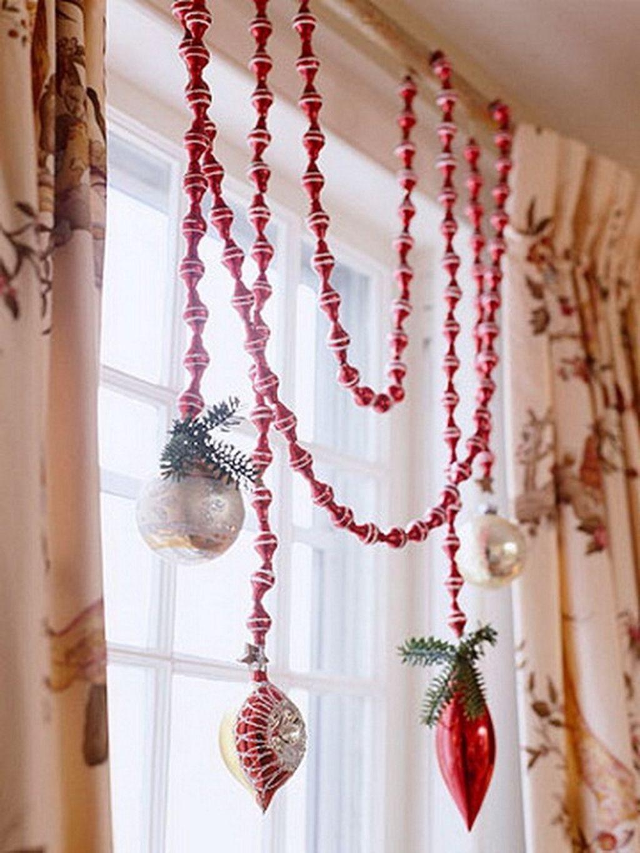Украшение дома к новому году своими руками на окна
