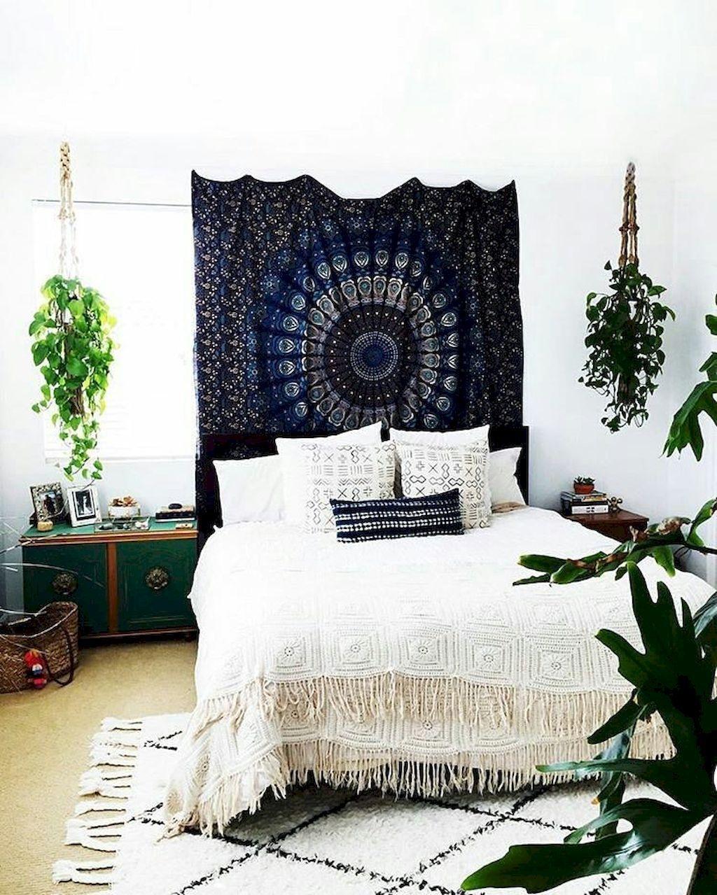 awesome hippie bohemian bedroom idea   40 Unique Bohemian Bedroom Decoration Ideas 32 – HomeDecorish