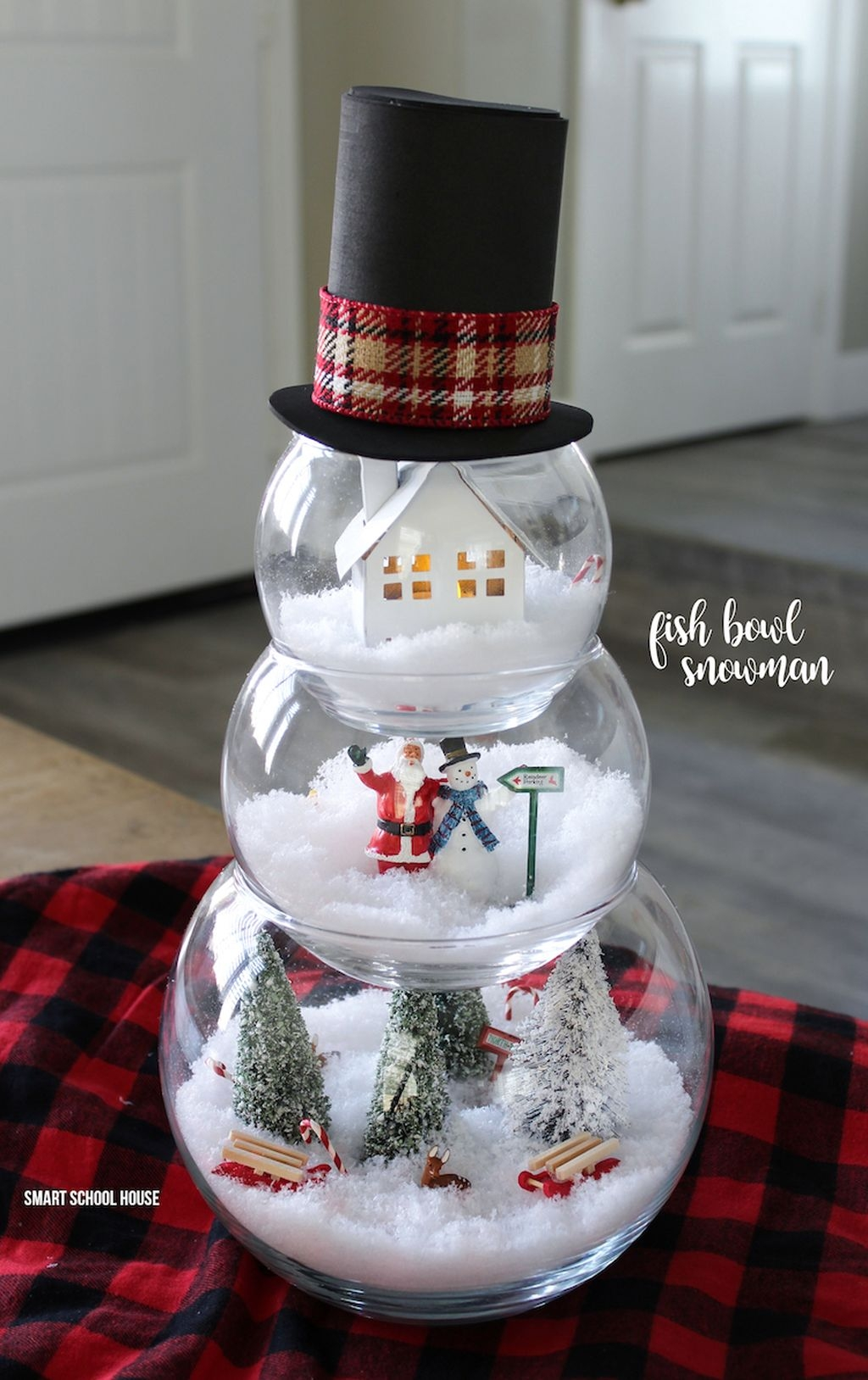 Cute And Cool Snowman Christmas Decoration Ideas 07