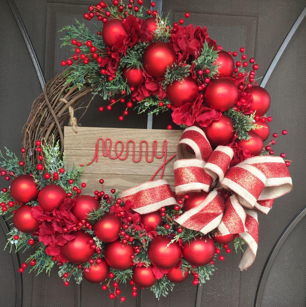 Cool Elegant Rustic Christmas Wreaths Decoration Ideas To Door Handles Collection Olytizonderlifede