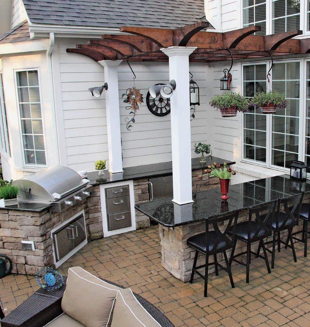 Outdoor Kitchens Lithia Fl: 38 Cool Outdoor Kitchen Design Ideas 01