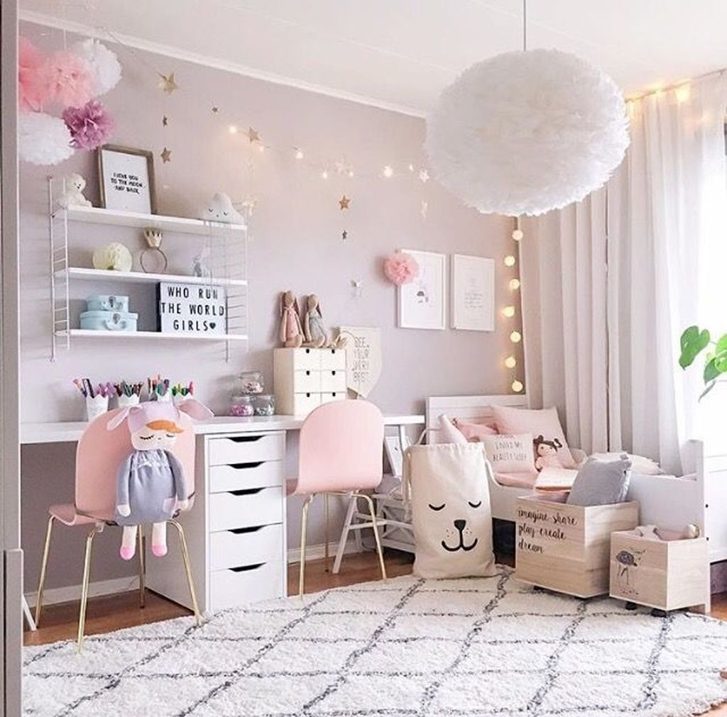 Decorating Kids Room: 39 Wonderful Girls Room Design Ideas