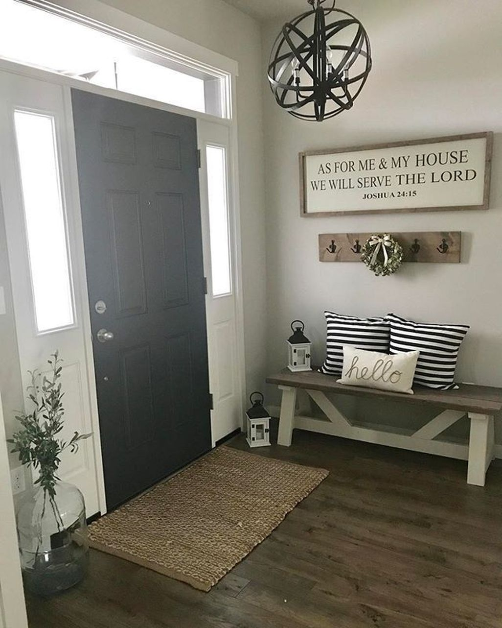 48 Amazing Farmhouse Entryway Mudroom Design Ideas
