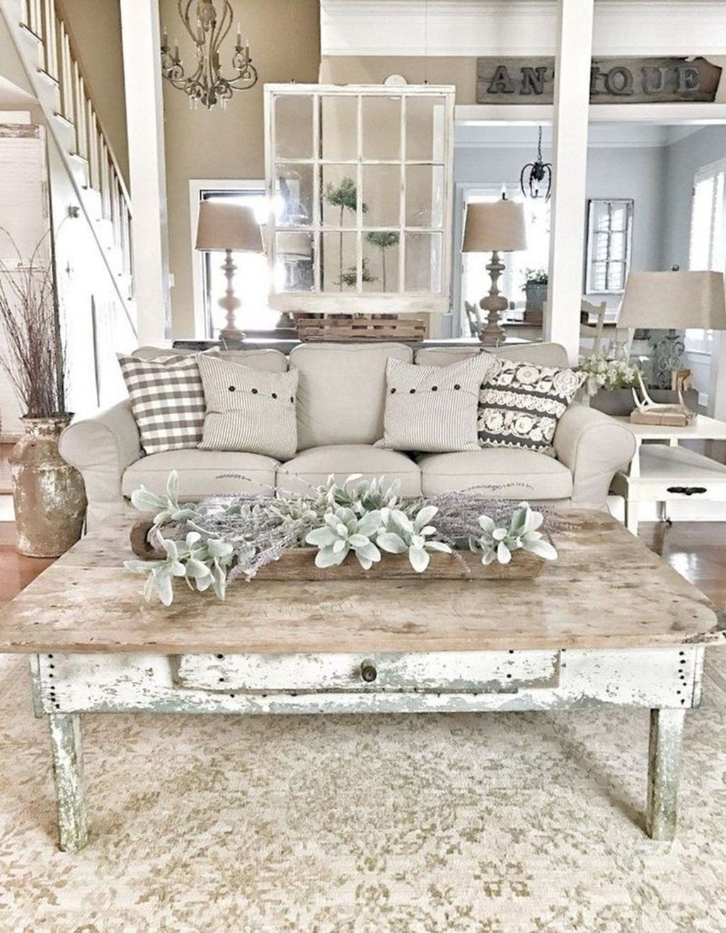 47 Amazing Rustic Farmhouse Living Room Decoration Ideas
