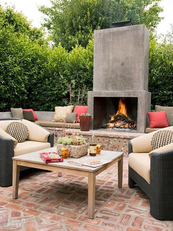 53 Most Amazing Outdoor Fireplace Designs Ever Outdoor ... on Amazing Outdoor Fireplaces id=33529