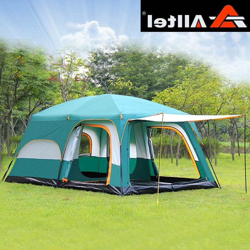 Alltel Ultralarge 6 10 12 Double Layer Outdoor 2living Rooms And 1hall Family Camping Tent 430