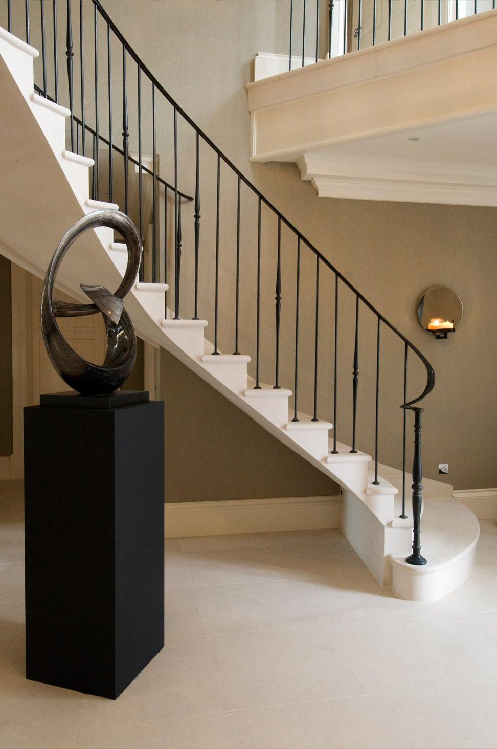 Beautiful Designs In Stone Interior Stair Railing
