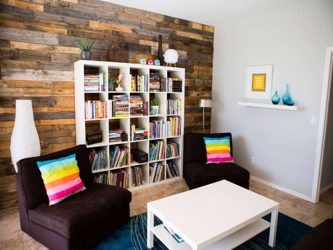 Bookshelf For Small Space Neat And Tidy Living Room