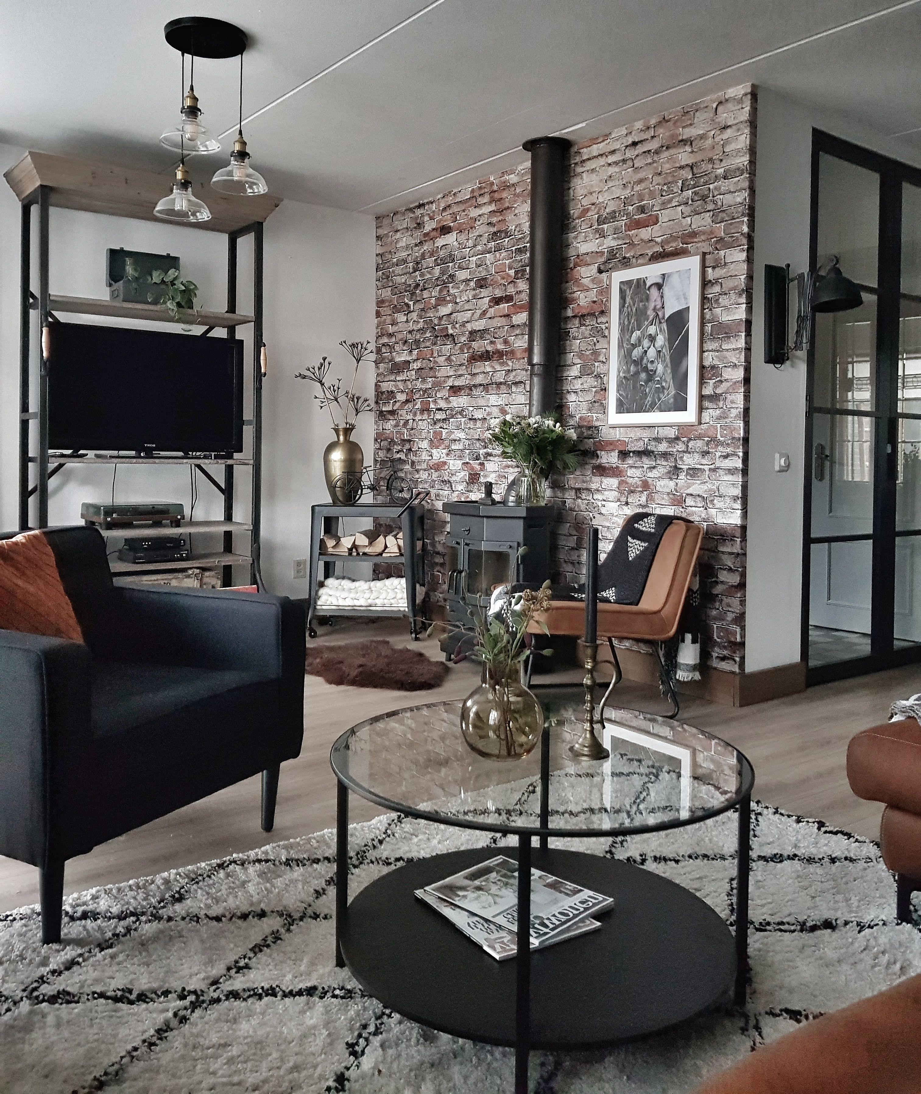 Brickwork Brick Wallpaper Living Room Living Room ...