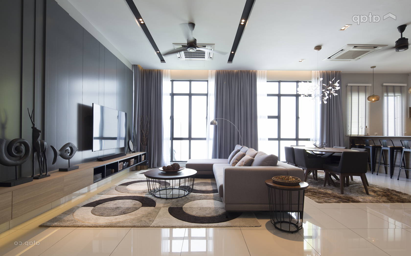 Contemporary Modern Dining Room Living Room Semi Detached