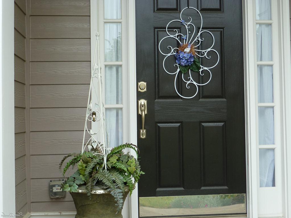 Door Decor Alternative To Traditional Wreath