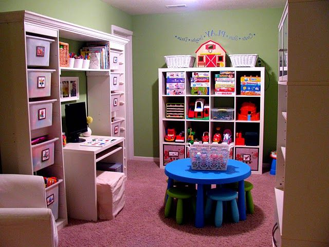 Functional Playroom Put Together Ikeas Trofast Storage