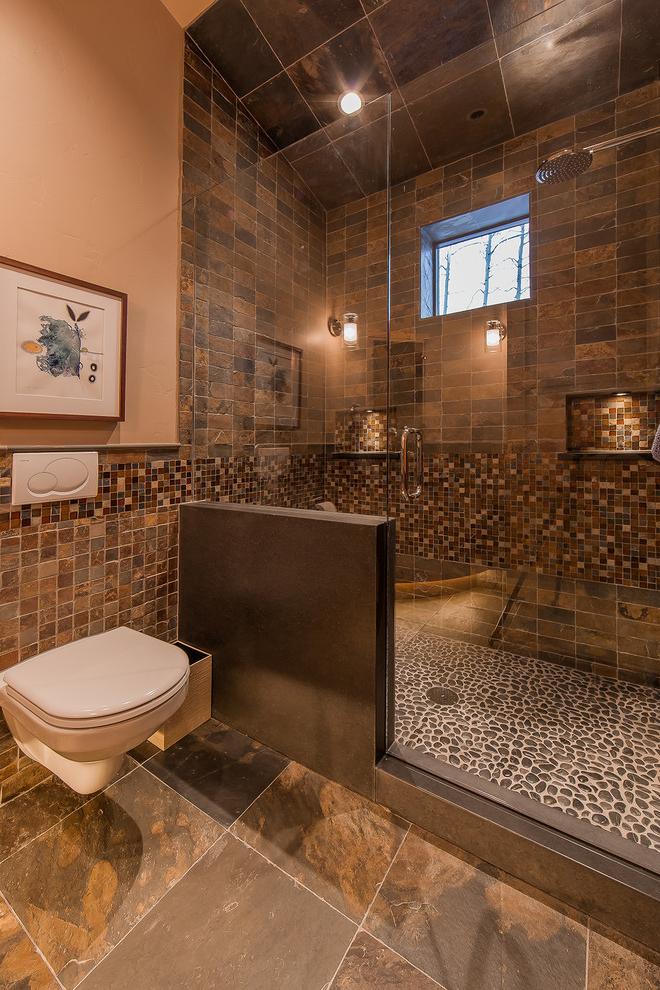Marvelous Frameless Glass Shower Doors In Bathroom Rustic