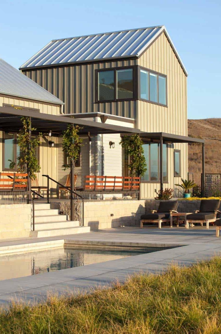 Sustainably Designed Modern Farmhouse Near The California